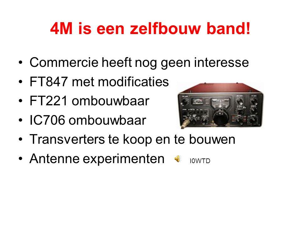 4M is een zelfbouw band! Commercie heeft nog geen interesse