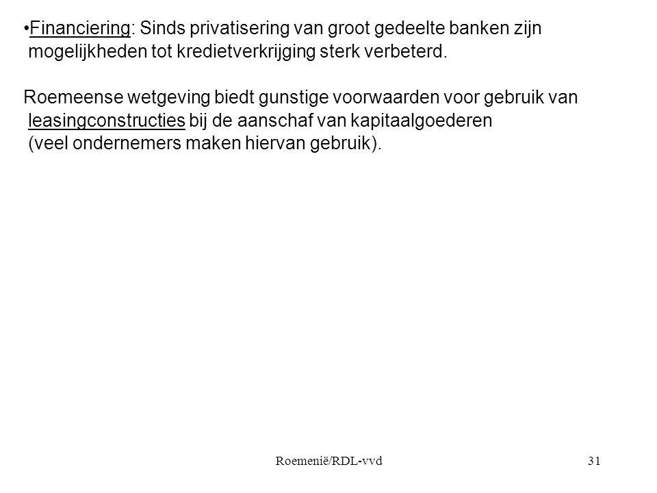 Financiering: Sinds privatisering van groot gedeelte banken zijn
