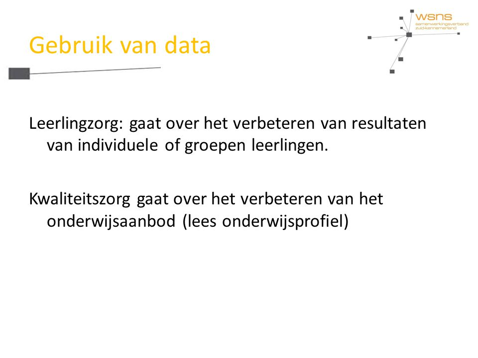 Gebruik van data