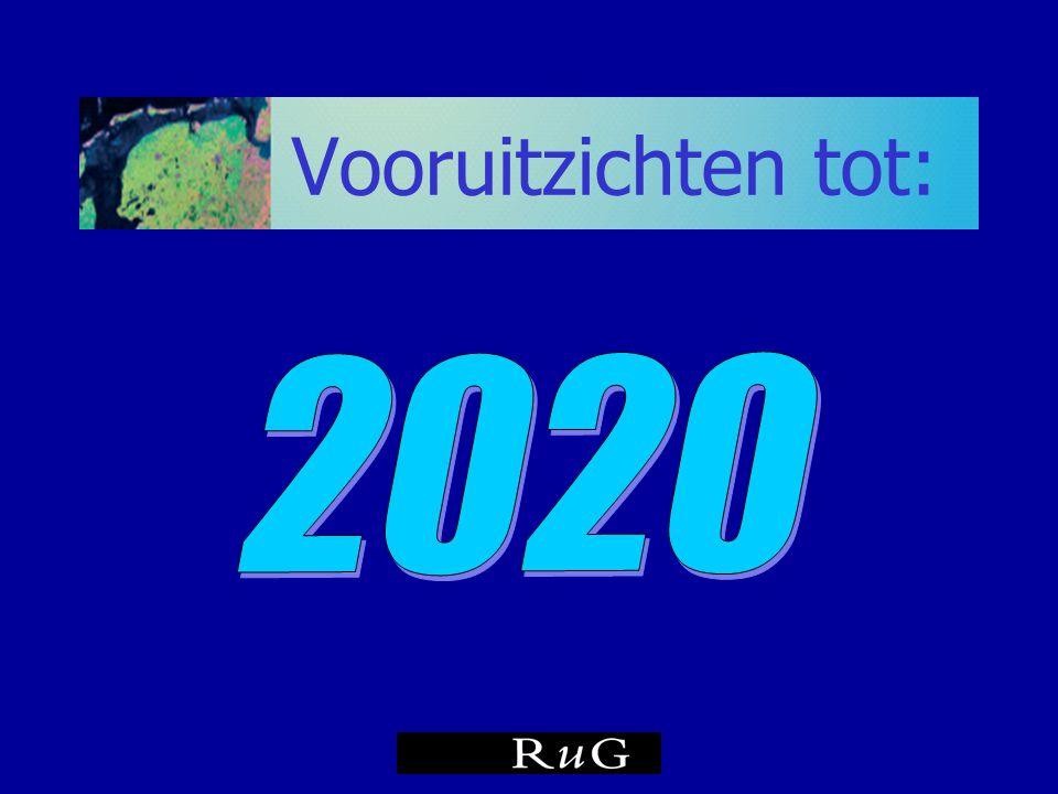 Vooruitzichten tot: 2020