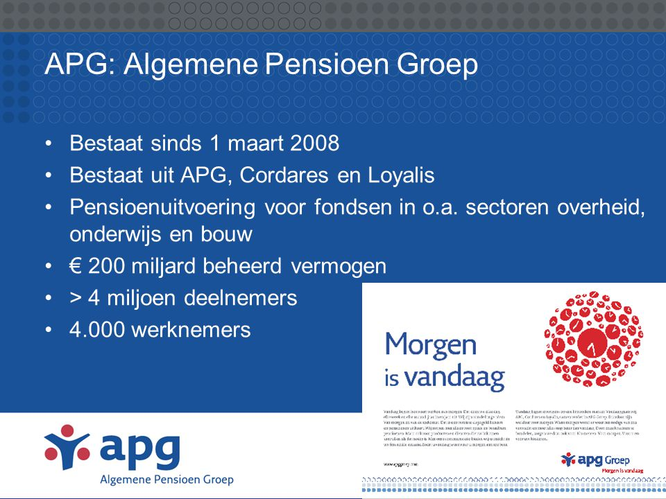 APG: Algemene Pensioen Groep