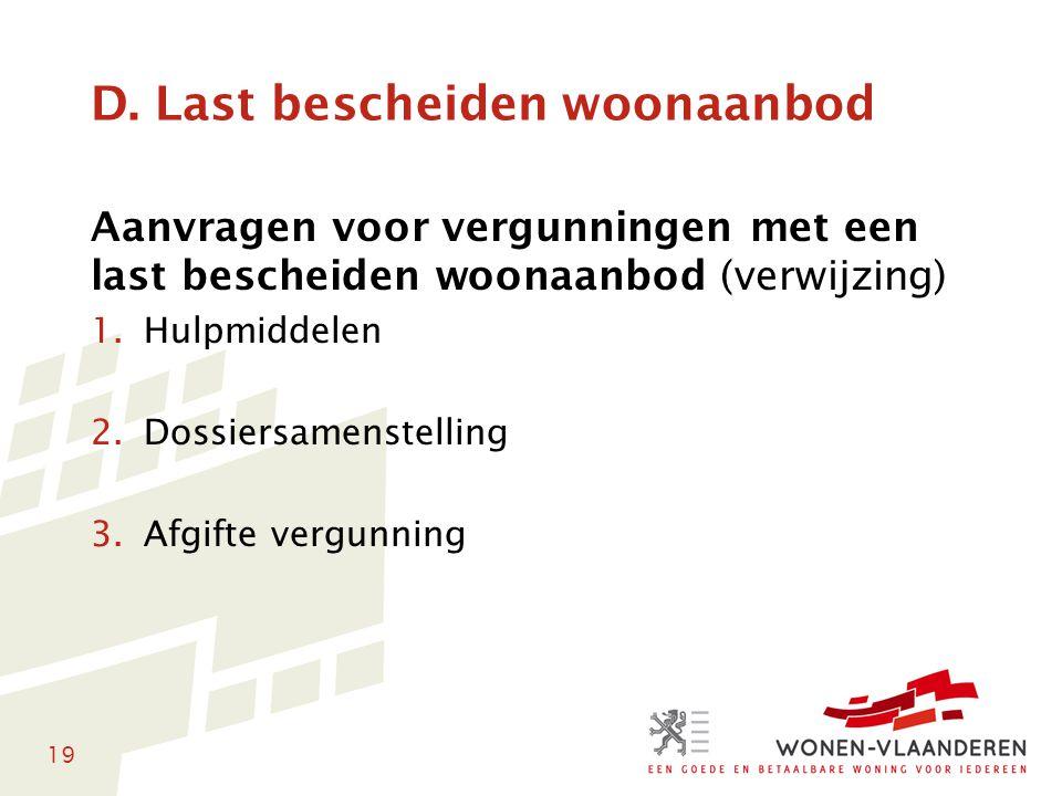 D. Last bescheiden woonaanbod