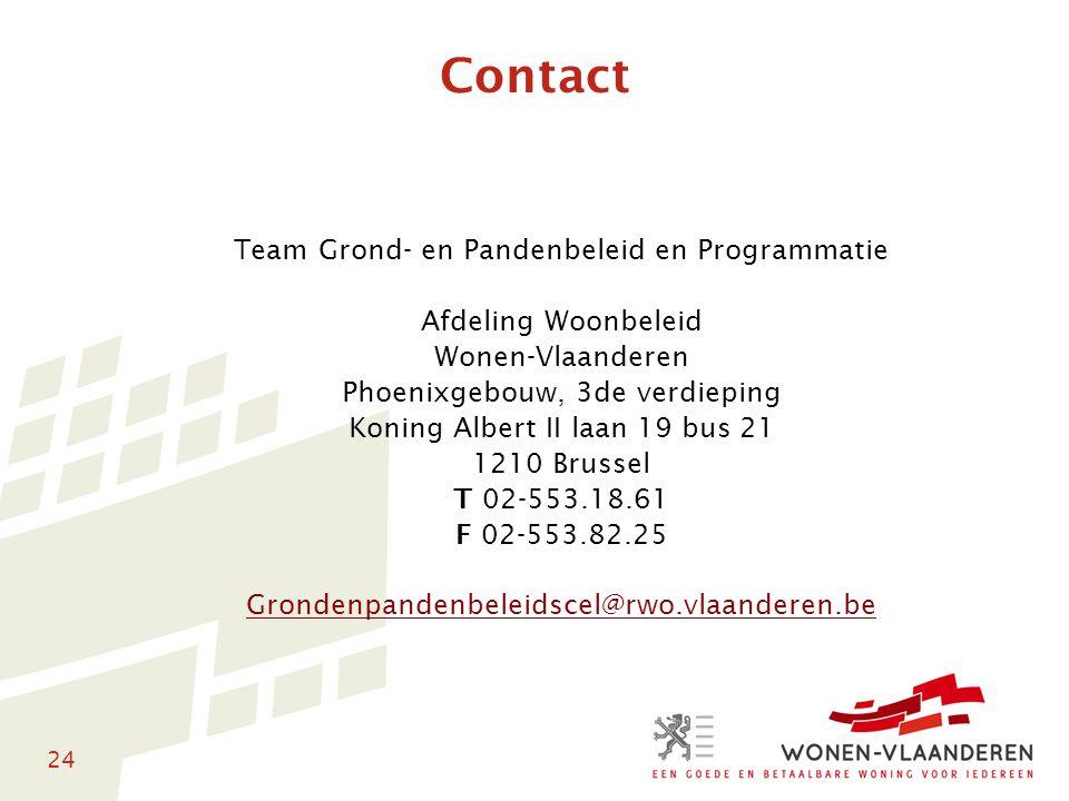 Contact Team Grond- en Pandenbeleid en Programmatie