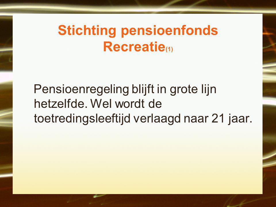Stichting pensioenfonds Recreatie(1)