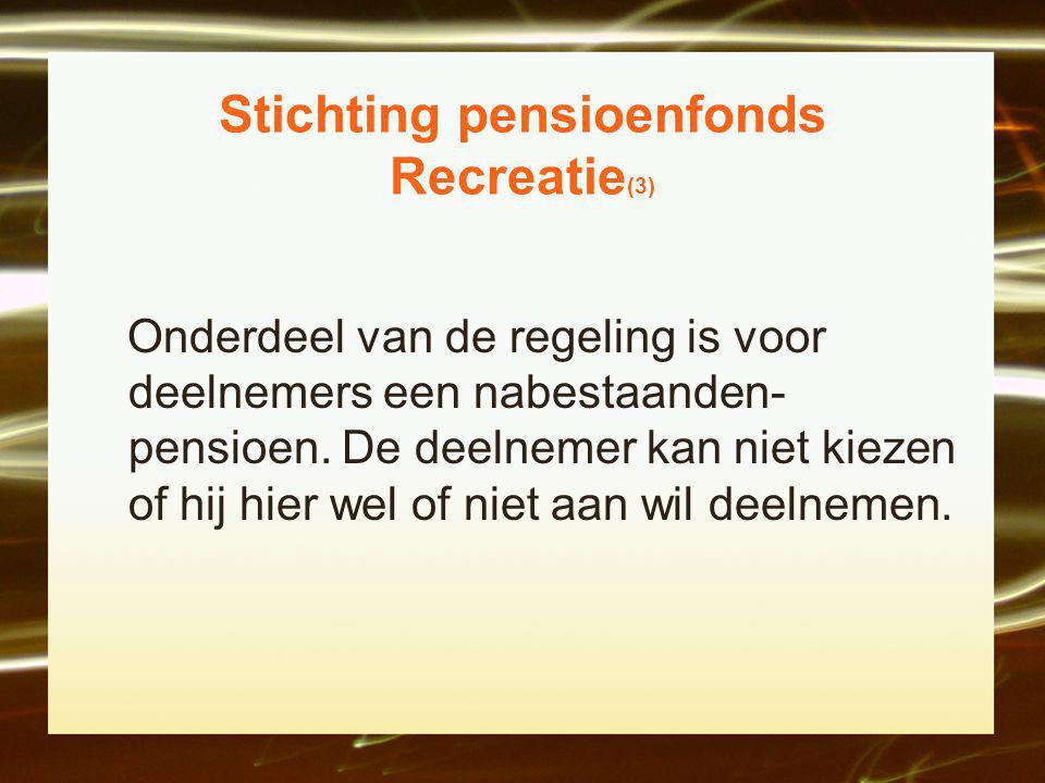 Stichting pensioenfonds Recreatie(3)