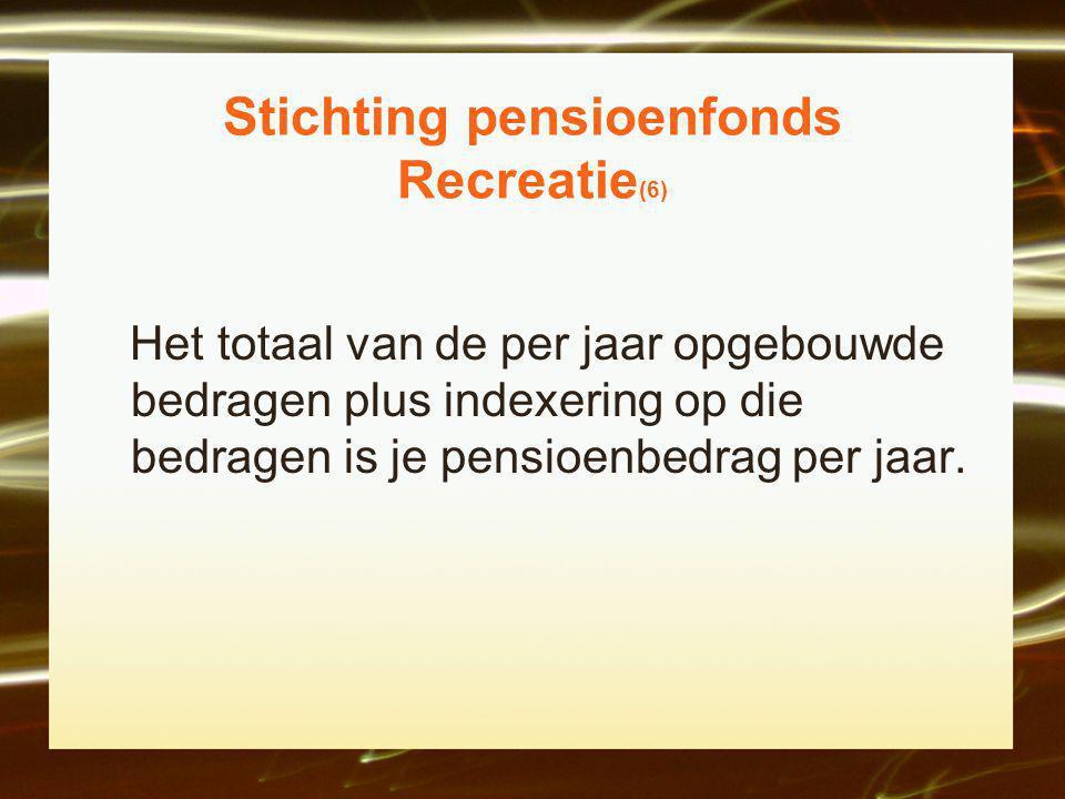Stichting pensioenfonds Recreatie(6)