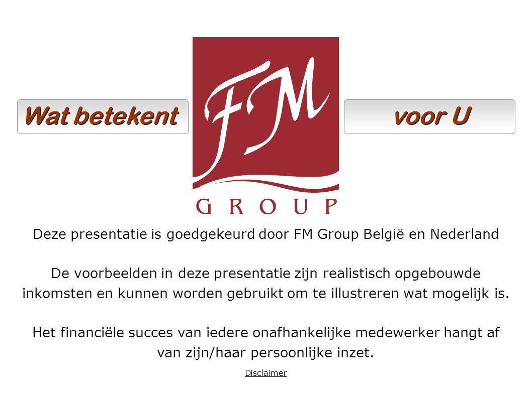 Deze presentatie is goedgekeurd door FM Group België en Nederland