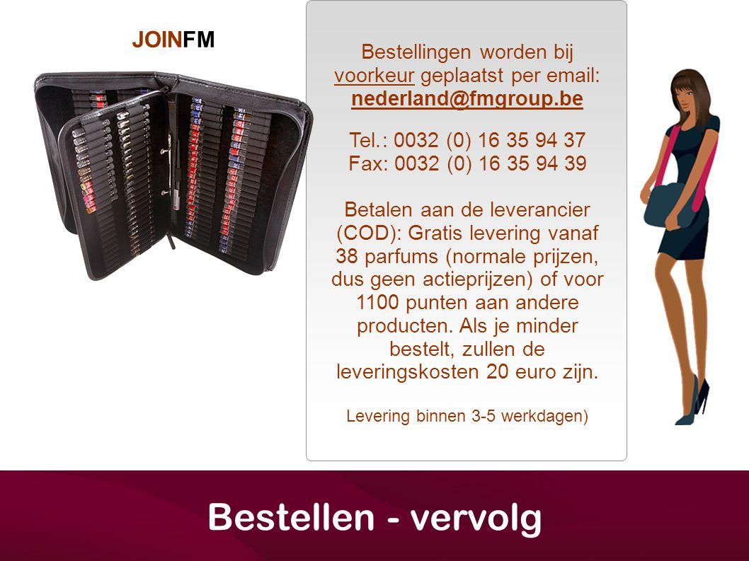Bestellen - vervolg JOINFM