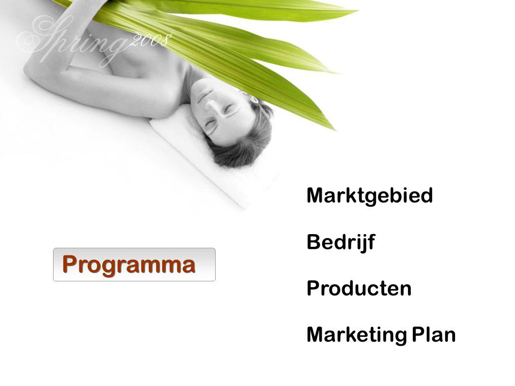 Marktgebied Bedrijf Producten Marketing Plan Programma