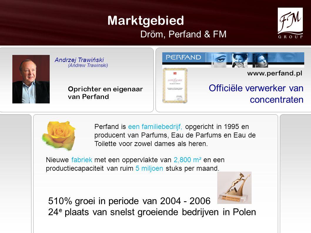 Marktgebied Dröm, Perfand & FM Officiële verwerker van concentraten