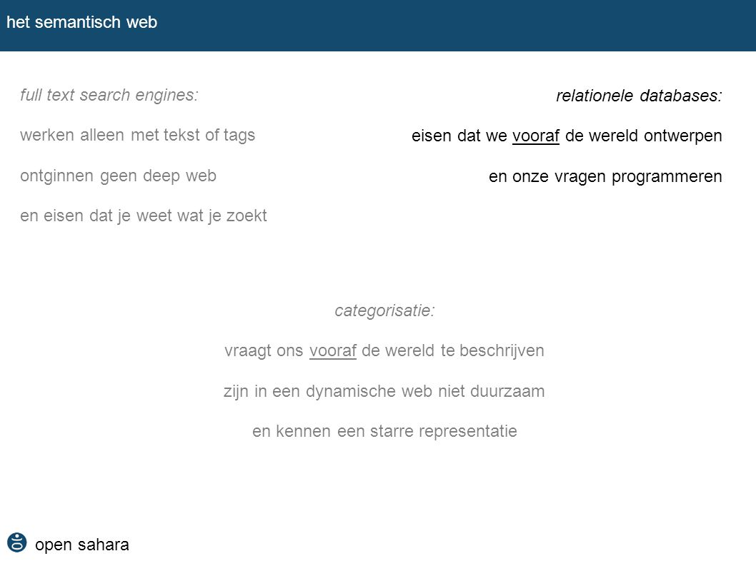 full text search engines: werken alleen met tekst of tags