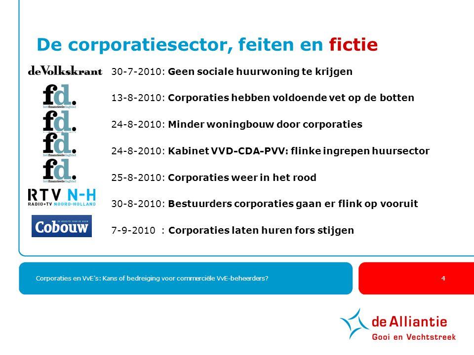 De corporatiesector, feiten en fictie