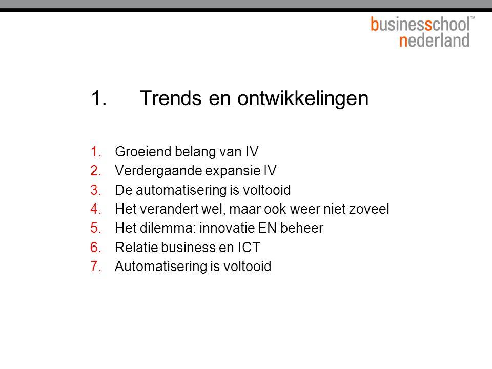 1. Trends en ontwikkelingen