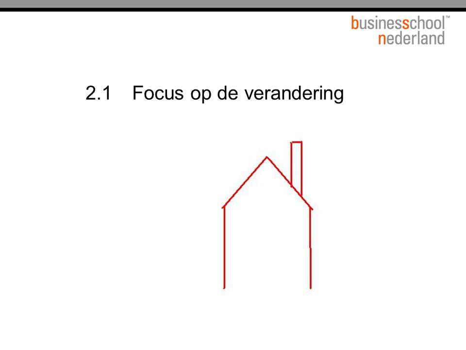 2.1 Focus op de verandering