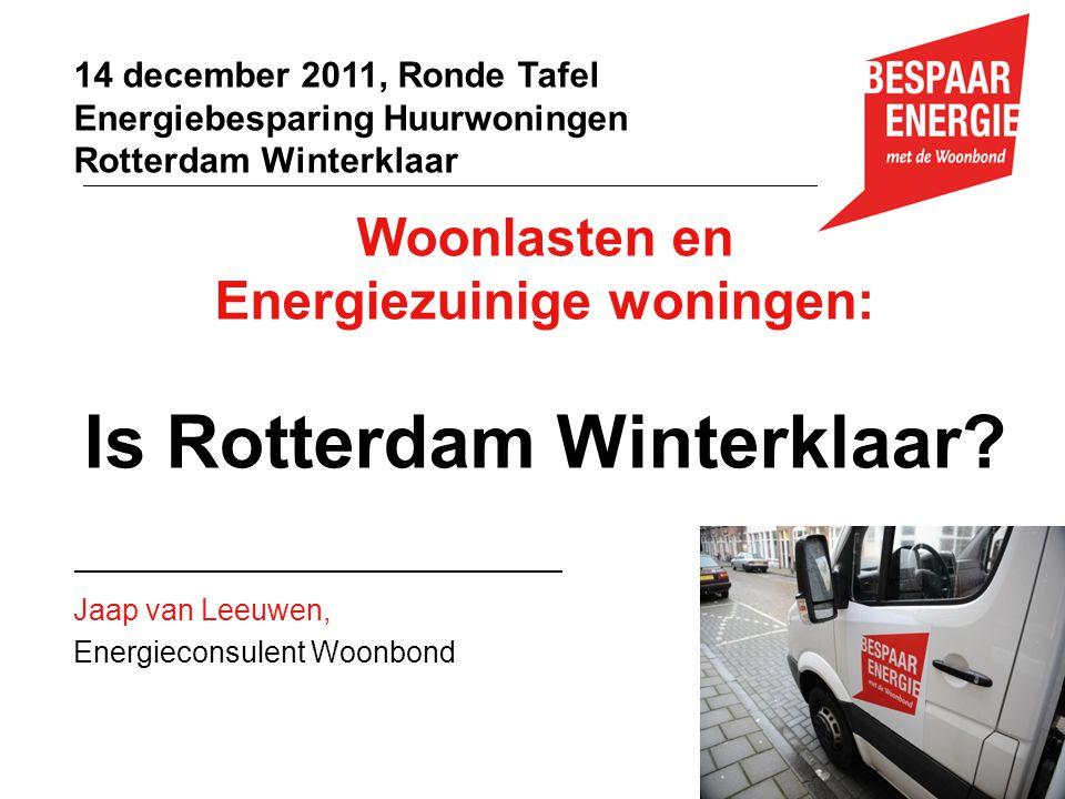 Energiezuinige woningen: Is Rotterdam Winterklaar