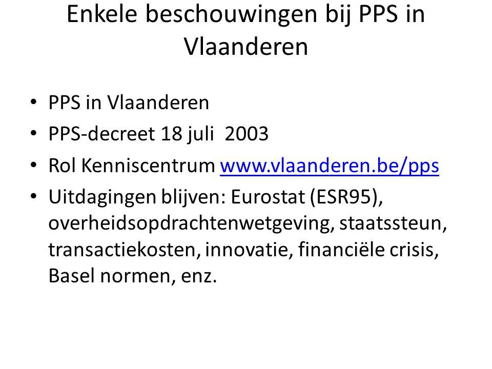 Enkele beschouwingen bij PPS in Vlaanderen