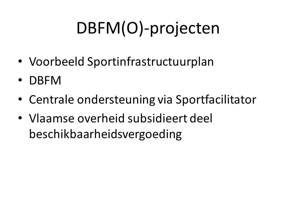 DBFM(O)-projecten Voorbeeld Sportinfrastructuurplan DBFM