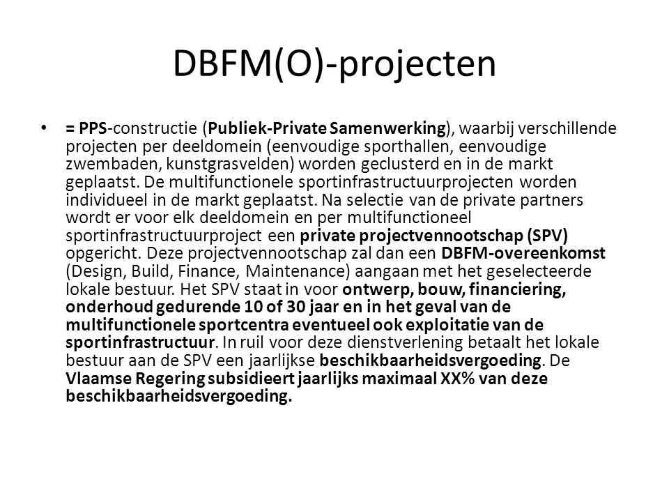 DBFM(O)-projecten