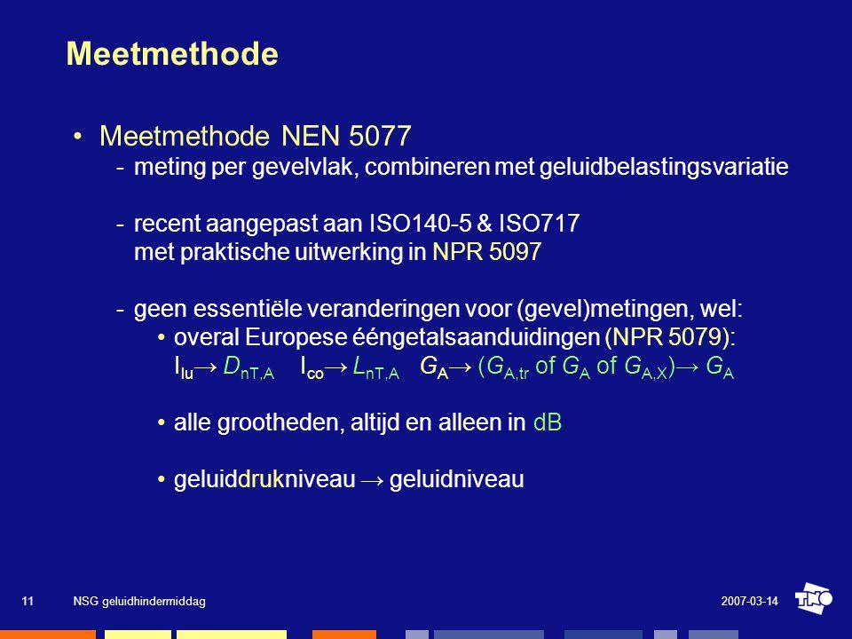 Meetmethode Meetmethode NEN 5077
