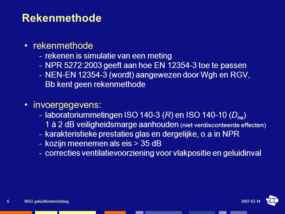 Rekenmethode rekenmethode invoergegevens: