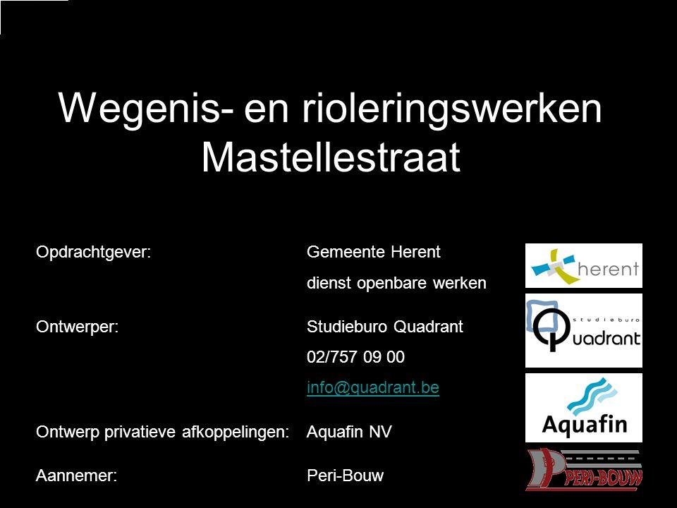 Wegenis- en rioleringswerken Mastellestraat