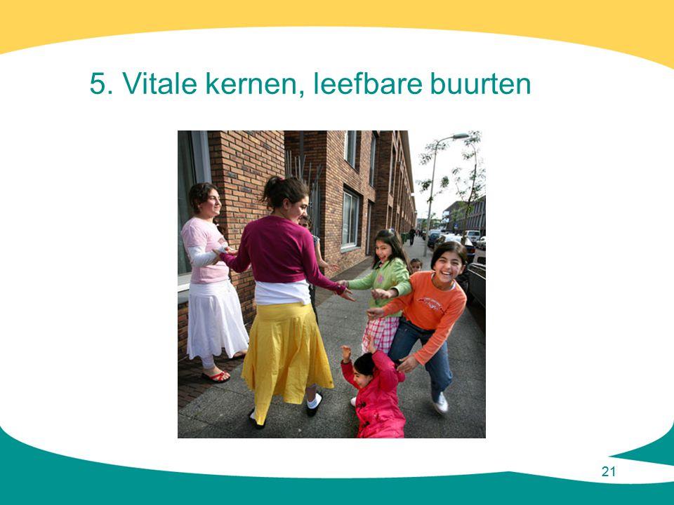 5. Vitale kernen, leefbare buurten