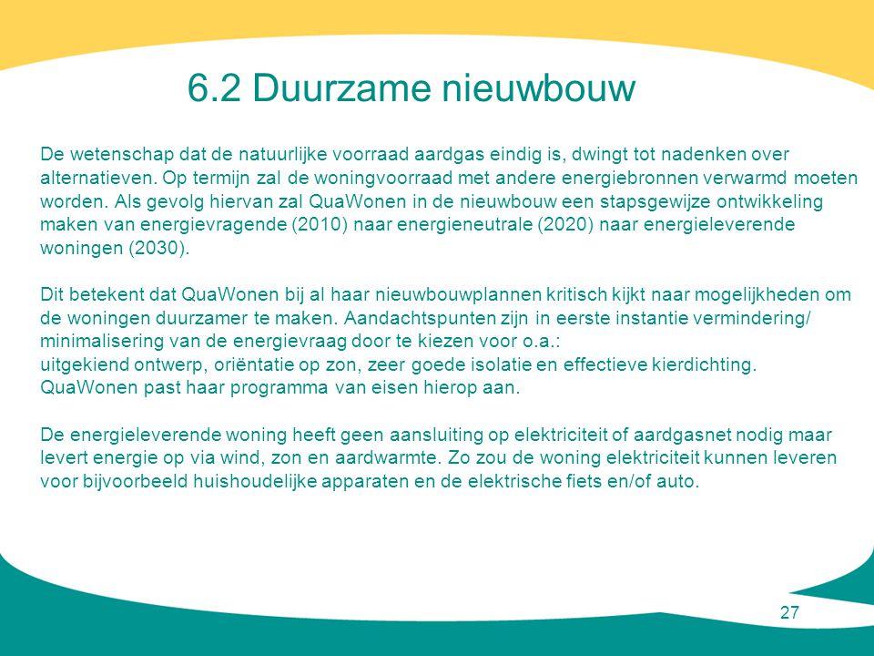 6.2 Duurzame nieuwbouw