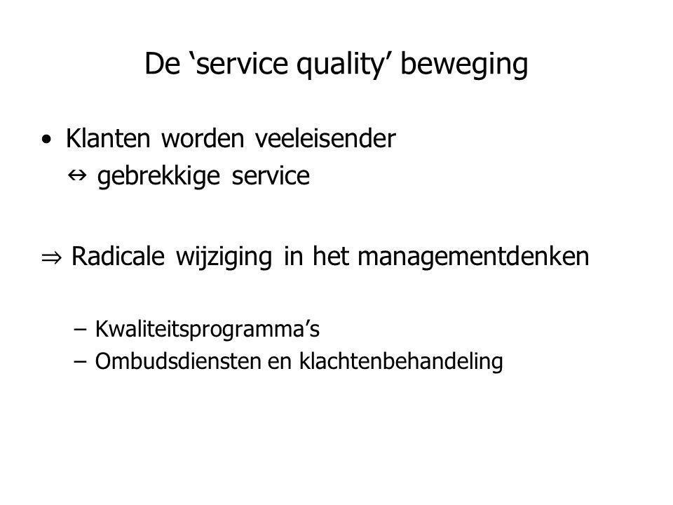 De 'service quality' beweging