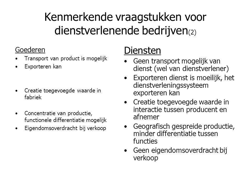 Kenmerkende vraagstukken voor dienstverlenende bedrijven(2)