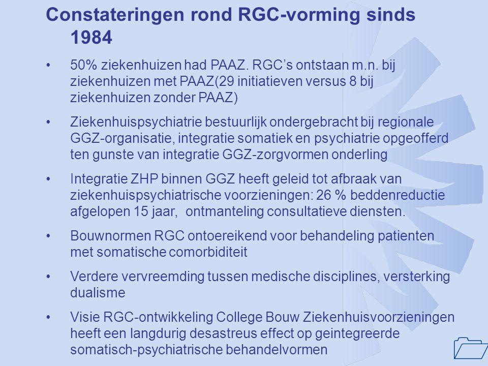 Constateringen rond RGC-vorming sinds 1984