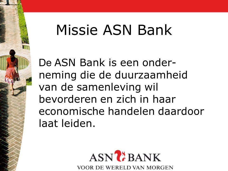 Missie ASN Bank