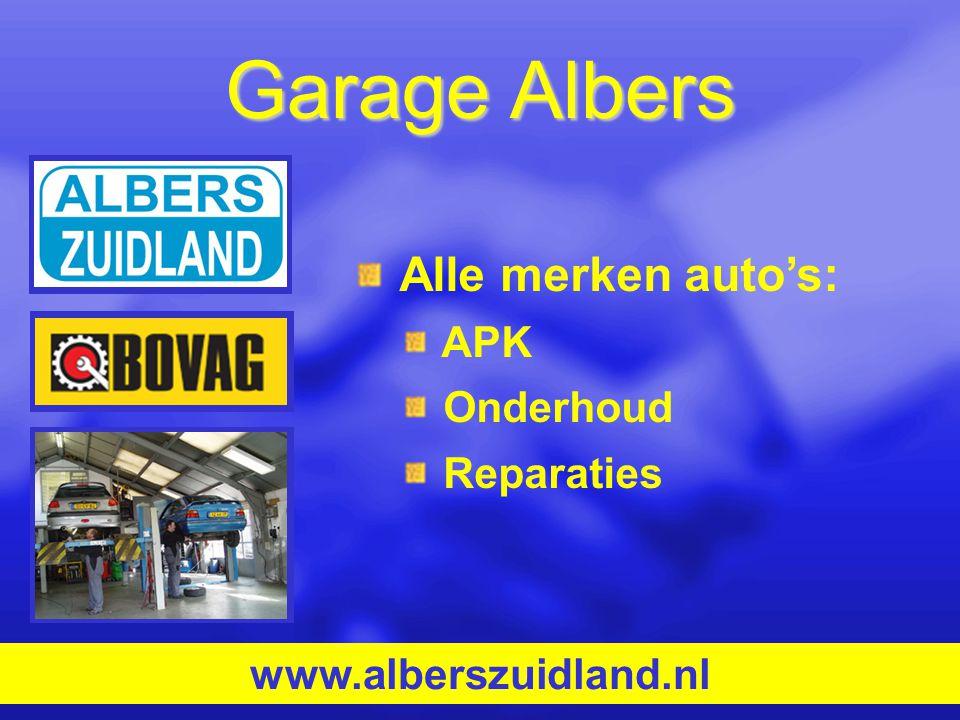Garage Albers Alle merken auto's: APK Onderhoud Reparaties