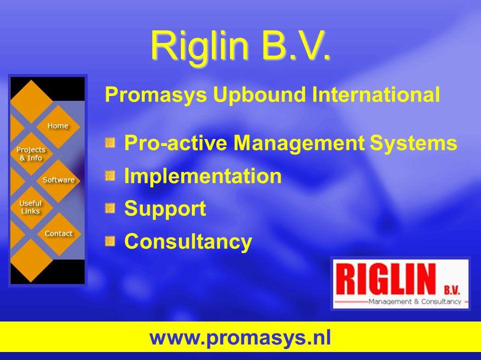 Riglin B.V. Promasys Upbound International