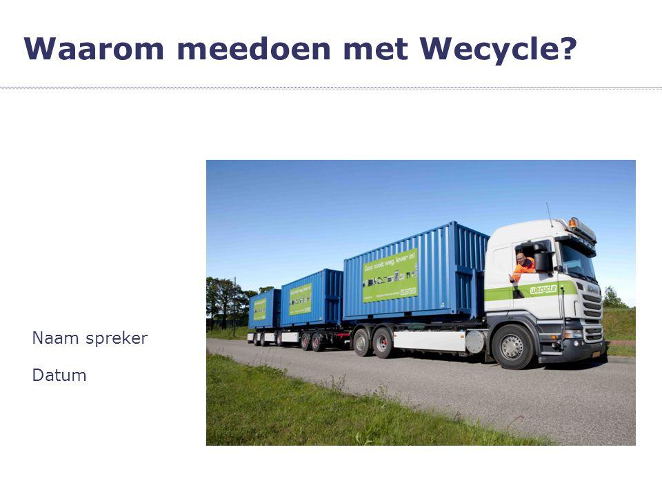 Waarom meedoen met Wecycle