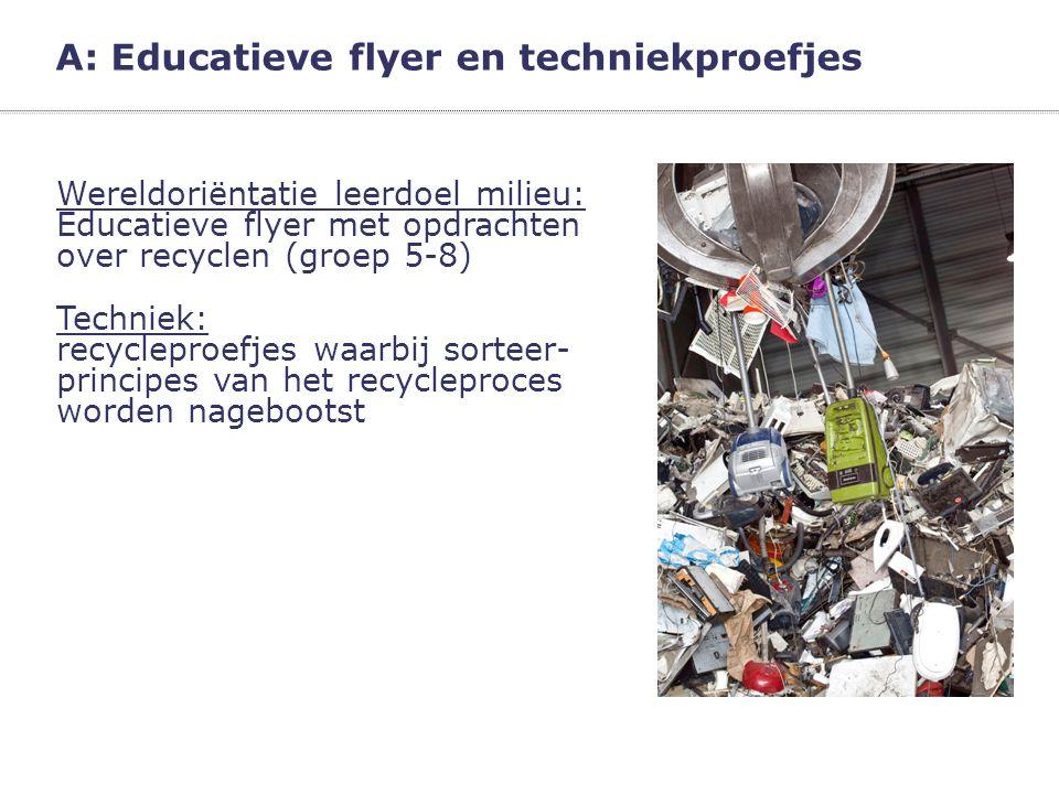A: Educatieve flyer en techniekproefjes