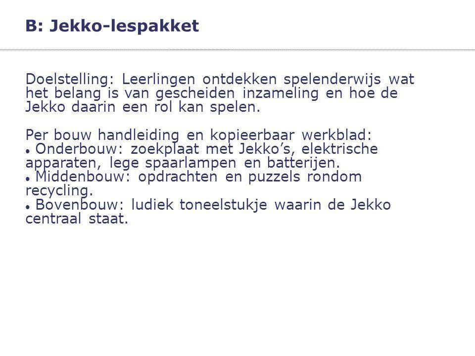 B: Jekko-lespakket