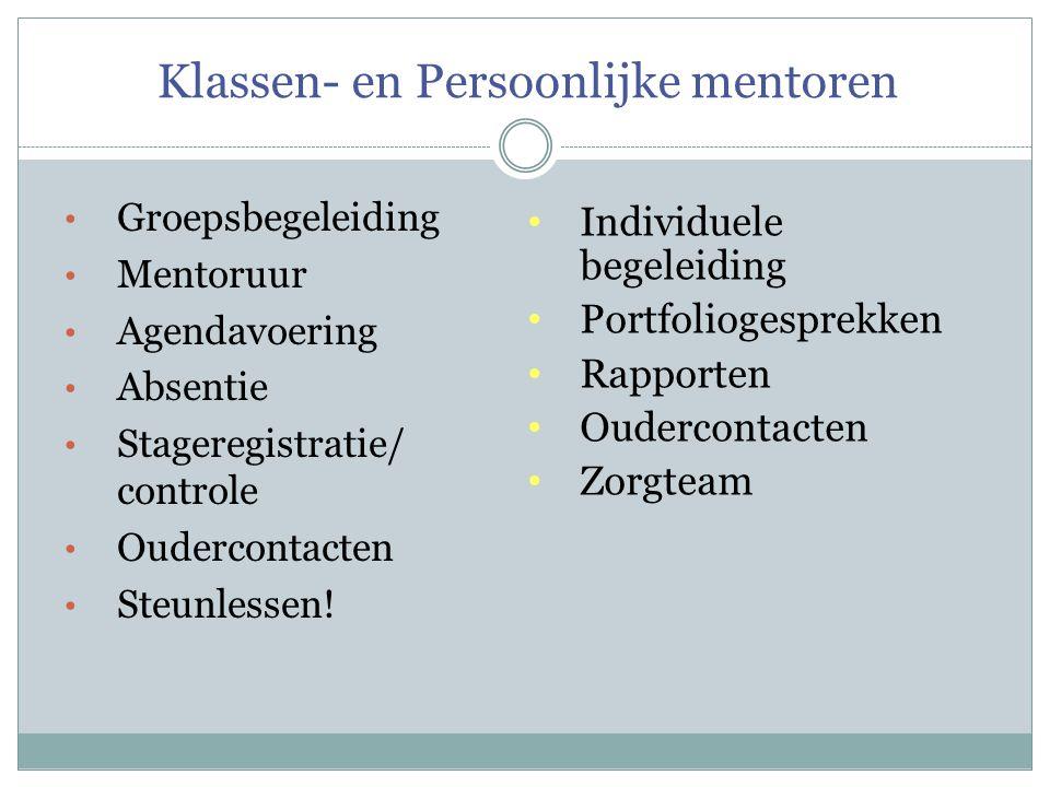 Klassen- en Persoonlijke mentoren