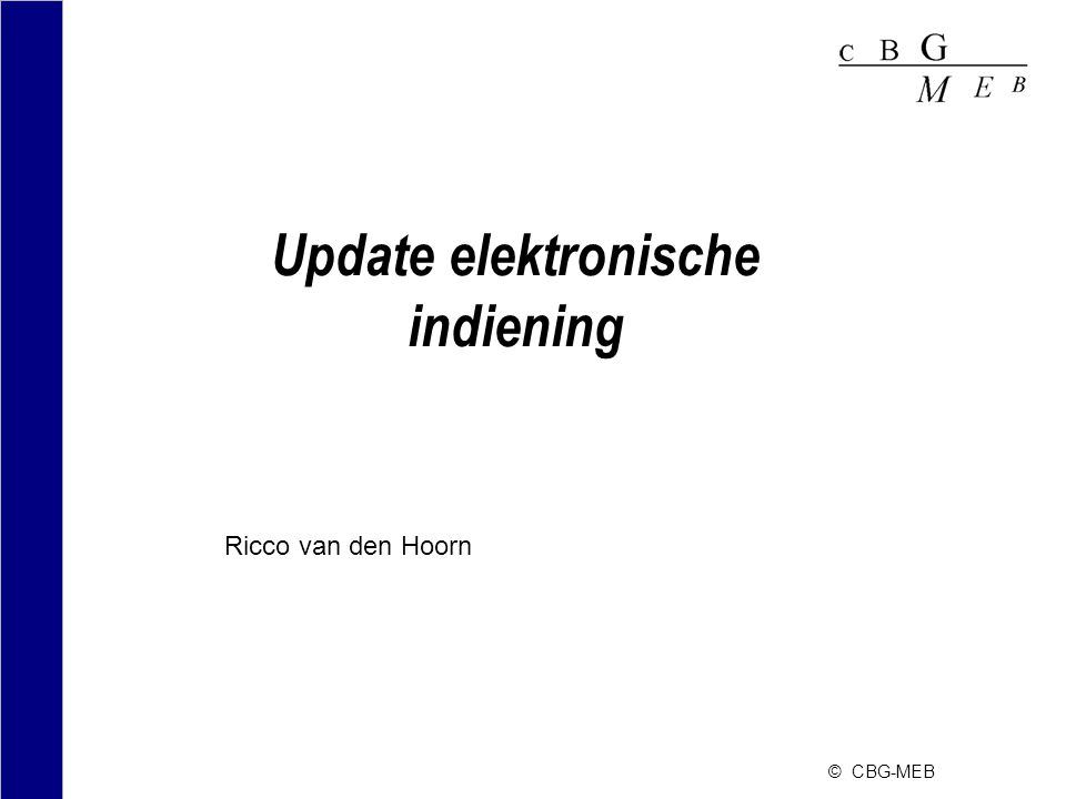 Update elektronische indiening
