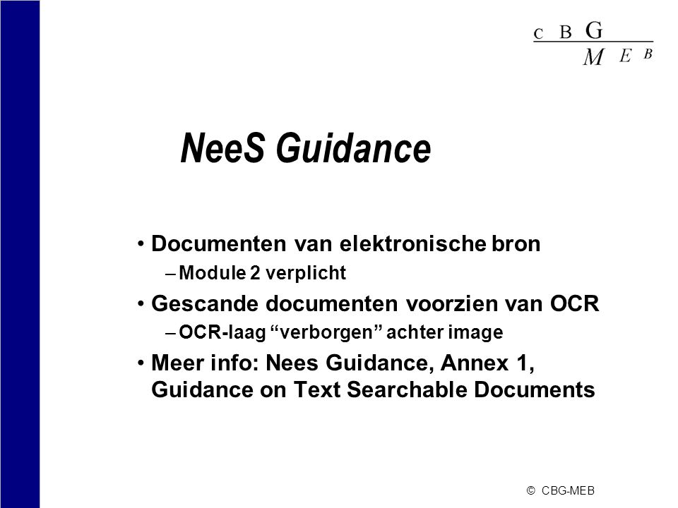 NeeS Guidance Documenten van elektronische bron