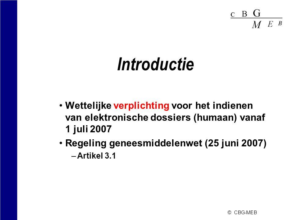 Introductie Wettelijke verplichting voor het indienen van elektronische dossiers (humaan) vanaf 1 juli 2007.