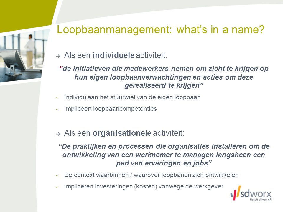 Loopbaanmanagement: what's in a name