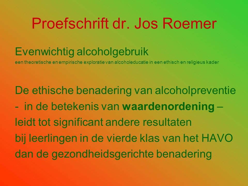 Proefschrift dr. Jos Roemer