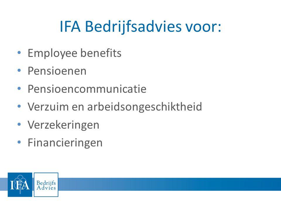 IFA Bedrijfsadvies voor: