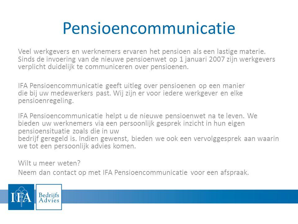 Pensioencommunicatie