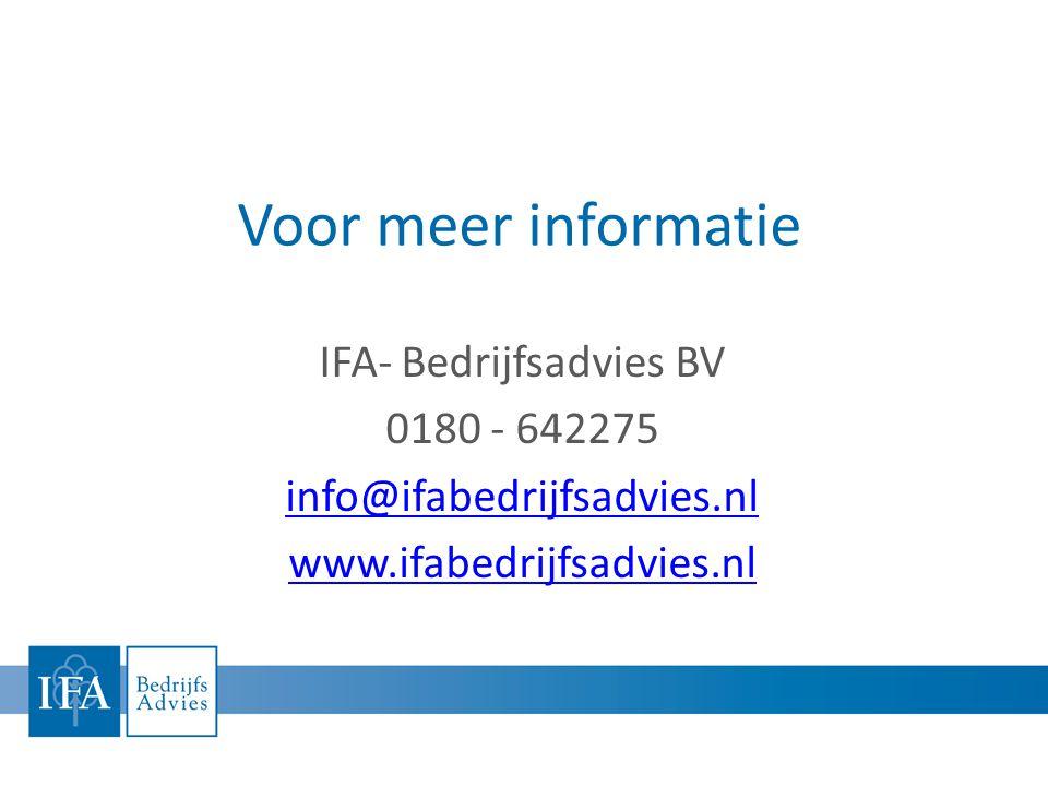 IFA- Bedrijfsadvies BV