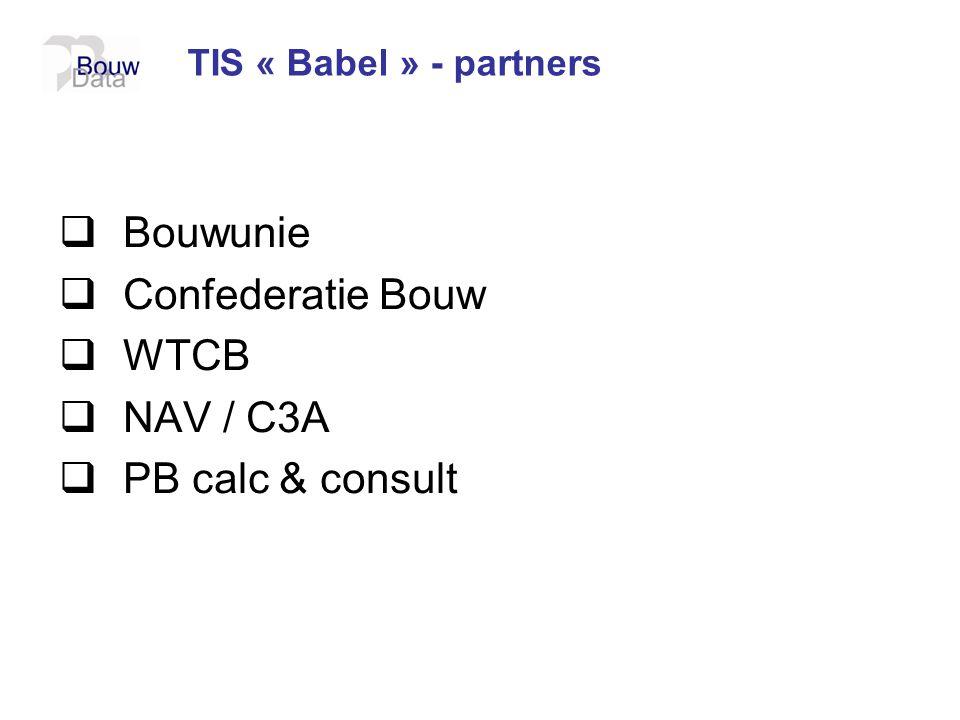 Bouwunie Confederatie Bouw WTCB NAV / C3A PB calc & consult