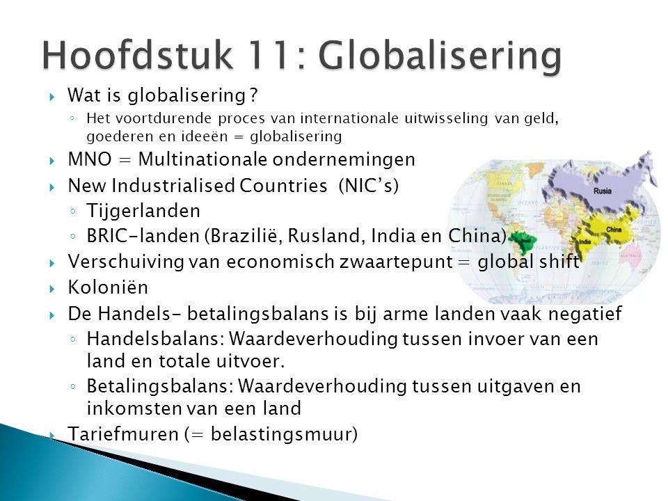 Hoofdstuk 11: Globalisering