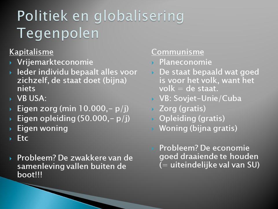 Politiek en globalisering Tegenpolen