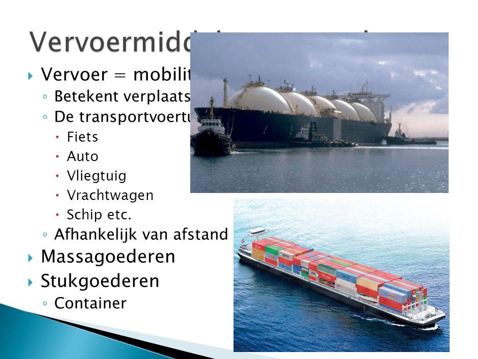 Vervoermiddelen en goederen