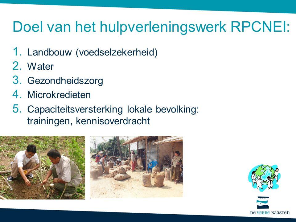 Doel van het hulpverleningswerk RPCNEI:
